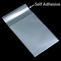 Saco transparente adesivo de doces, saco auto-adesivo de plástico para doces, casamento, brinco de presente, 100, pçs/lote