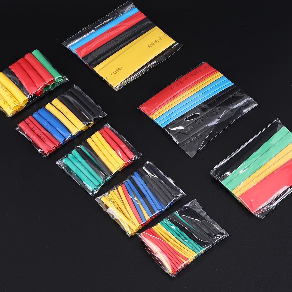 Tubos de manga aislada, conducto de Cable Durable 164 unids/caja, piezas de repuesto de aislamiento de color, accesorios de tubería para trabajador termorretráctil, herramientas