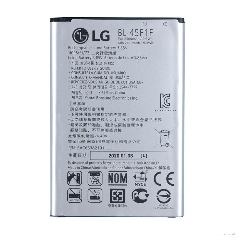 Original BL-45F1F batería para LG k8 K4 K3 M160 Aristo MS210 2410mAh X230K M160 X240K LV3 2410mAh