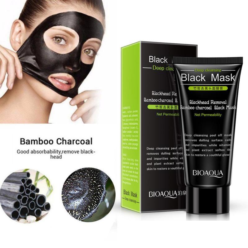 Bambú carbón espinillas eliminar máscara Facial profunda limpieza de aceite-control fácil de extraer puntos negros máscara de barro negro TSLM1