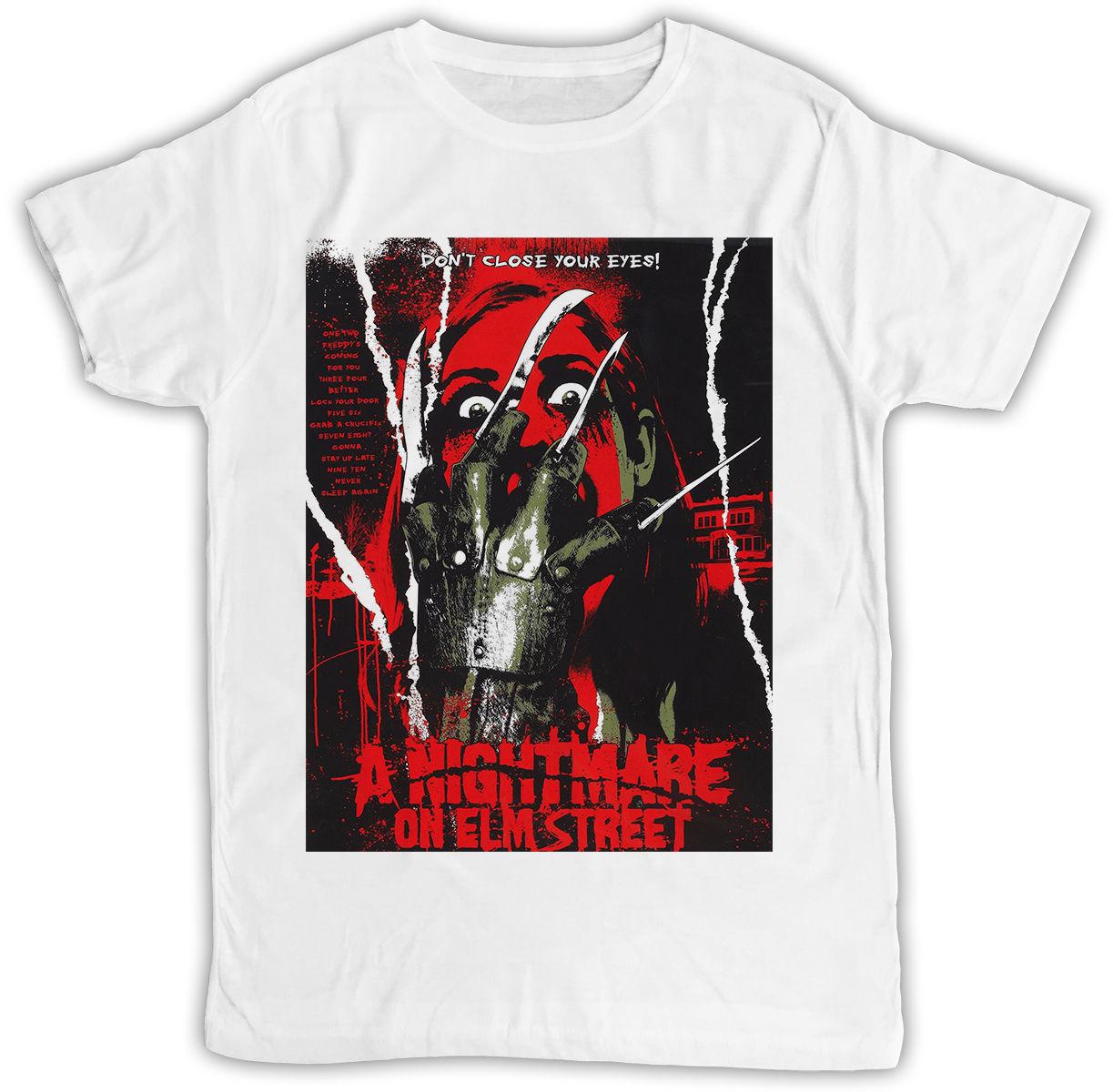FREDDY KRUEGER ELM STREET película POSTER IDEAL regalo camiseta manga corta Camisetas marca ropa divertida camiseta Top