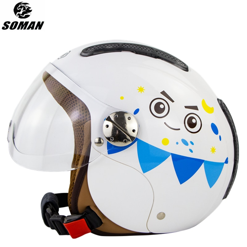 Casco de moto con forro suave para niños, Casco de moto infantil,...
