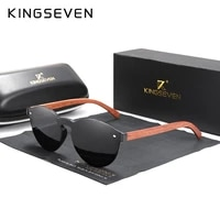 custom logo natural wooden sunglasses kingseven bubinga mens polarized glasses wooden fashion sun glasses original accessories