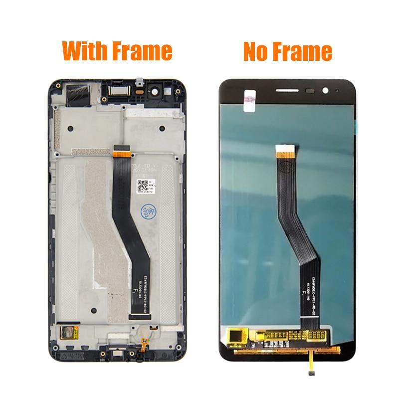 Herramienta gratuita para ASUS ZenFone 3 Zoom ZE553KL pantalla LCD de montaje de digitalizador con pantalla táctil de reemplazo para ASUS Z01HDA LCD con marco