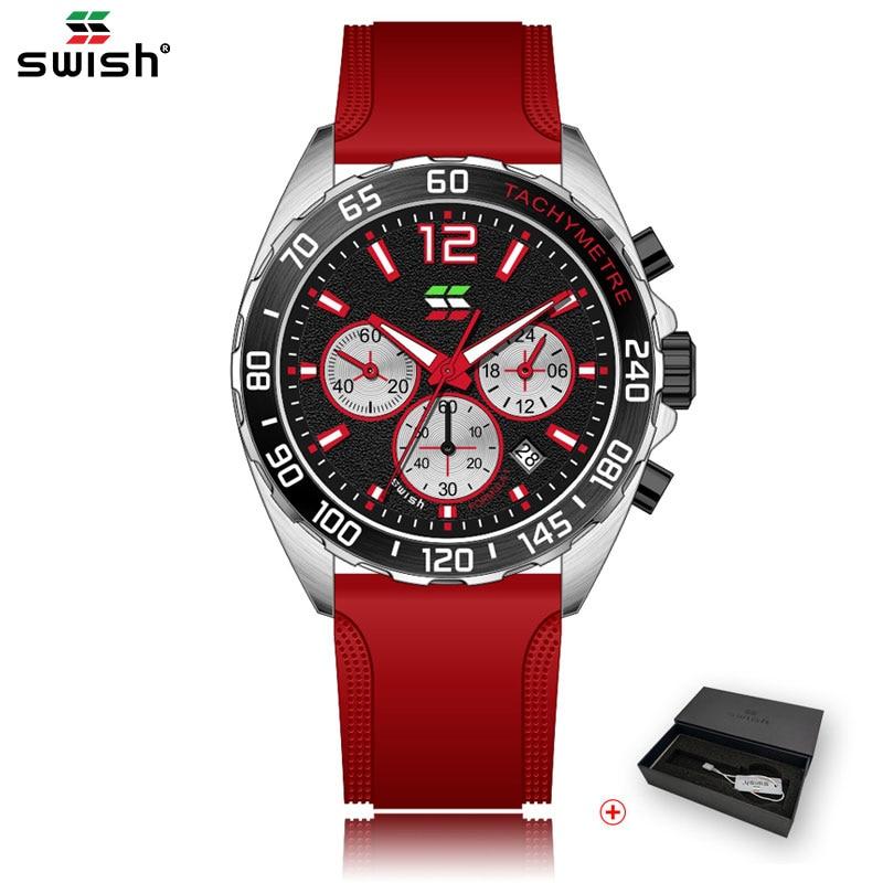 SWISH Fashion Mens Watches Brand Luxury Sport Chronograph Wristwatch Casual Business Waterproof Quar