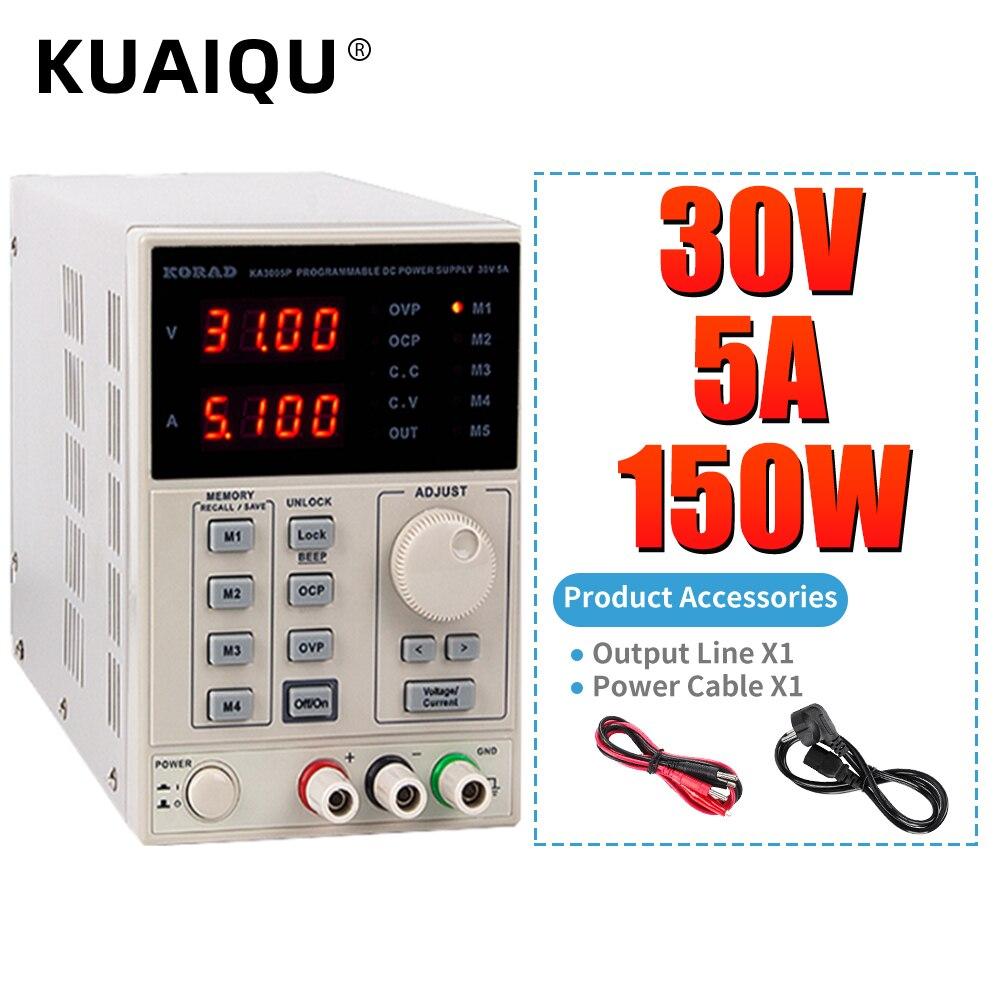 KA3005D الدقة قابل للتعديل الرقمية للبرمجة تيار مستمر امدادات الطاقة مختبر امدادات الطاقة 30 فولت 5A 30 فولت 10A ل مختبر البحوث 120V3A