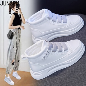 High-top white shoes women's autumn 2021 new thick-soled platform platform shoes women's running casual shoes sneakers