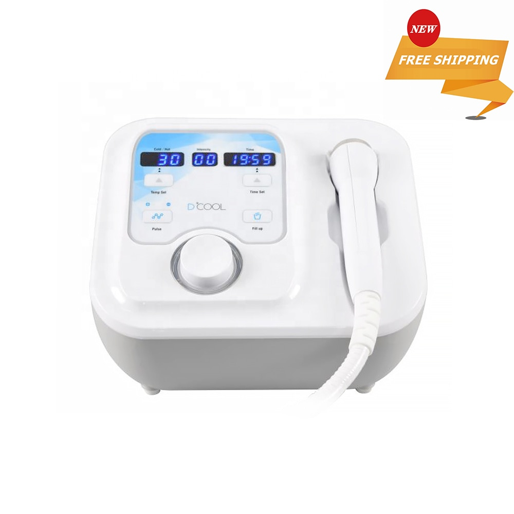 Portable Dcool For Skin Tightening Anti Puffiness Facial Heating Cooling And Electroporation Machine
