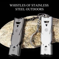 portable 150db whistle alarm durable stainless steel outdoor survival whistle lifesaving camping hiking emergency