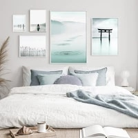 torii gate landscape art poster nordic style yoga calm sea print wall canvas painting creative picture modern home decoration