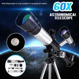 60x Refraction Astronomical Telescope With Tripod Sky Monocular Telescopio Space Observation Scope Science Educational Monocular