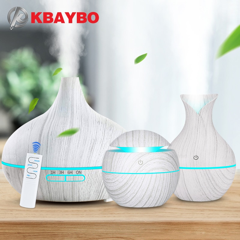 KBAYBO Aroma Air Humidifier Wood Aroma Essential Oil Diffuser Ultrasonic Humidifier cool Mist Maker