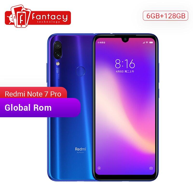 "En Stock rom global xiaomi Redmi Note 7 Pro 6GB 128GB Snapdragon 675 48MP IMX 586 Cámara Octa Core 6,3 ""FHD pantalla del teléfono móvil"