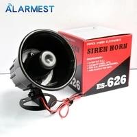 Klaxon de sirene dalarme forte filaire noir DC12V exterieur pour les systemes dalarme de systeme de Protection de securite a la maison