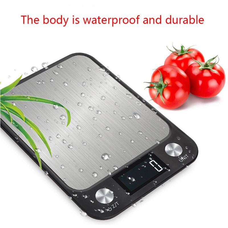 10kg 1g grande cozinha digital escala de aço inoxidável cozinha cozinhar comida escala h7ee