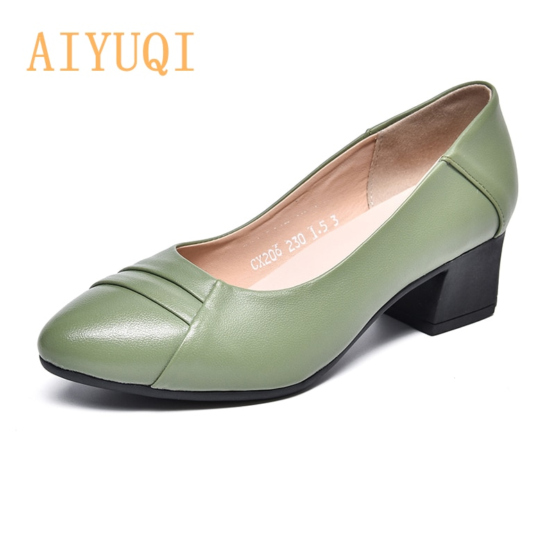 AIYUQI Women Shoes Large Size 2021 Spring New Genuine Leather Women Shoes Formal Wear Professional M