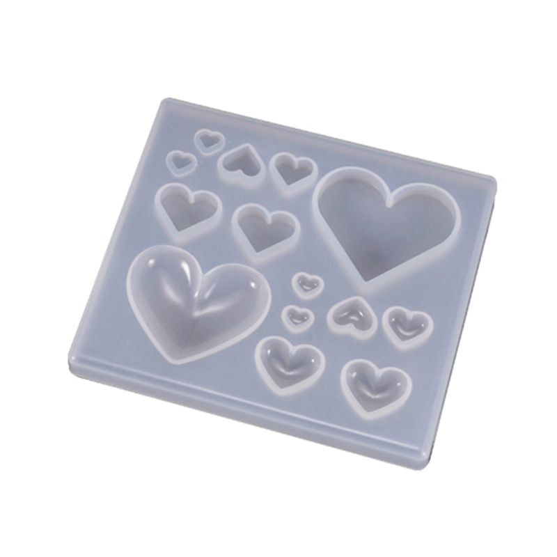 AliExpress - UV Resin Crafts Making DIY Crystal Epoxy Mold Candy Heart-shaped Patch Decoration Silicone Molds