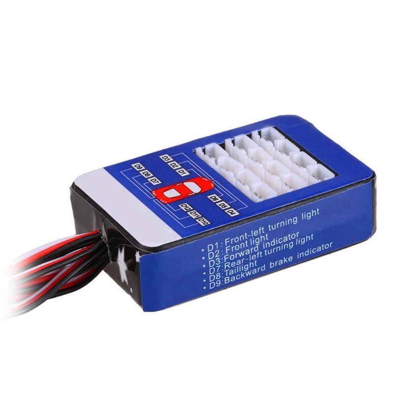 Kit de sistema de iluminación LED de 12 luces intermitentes de simulación para 1/10 modelo de escala de coche RC P31B