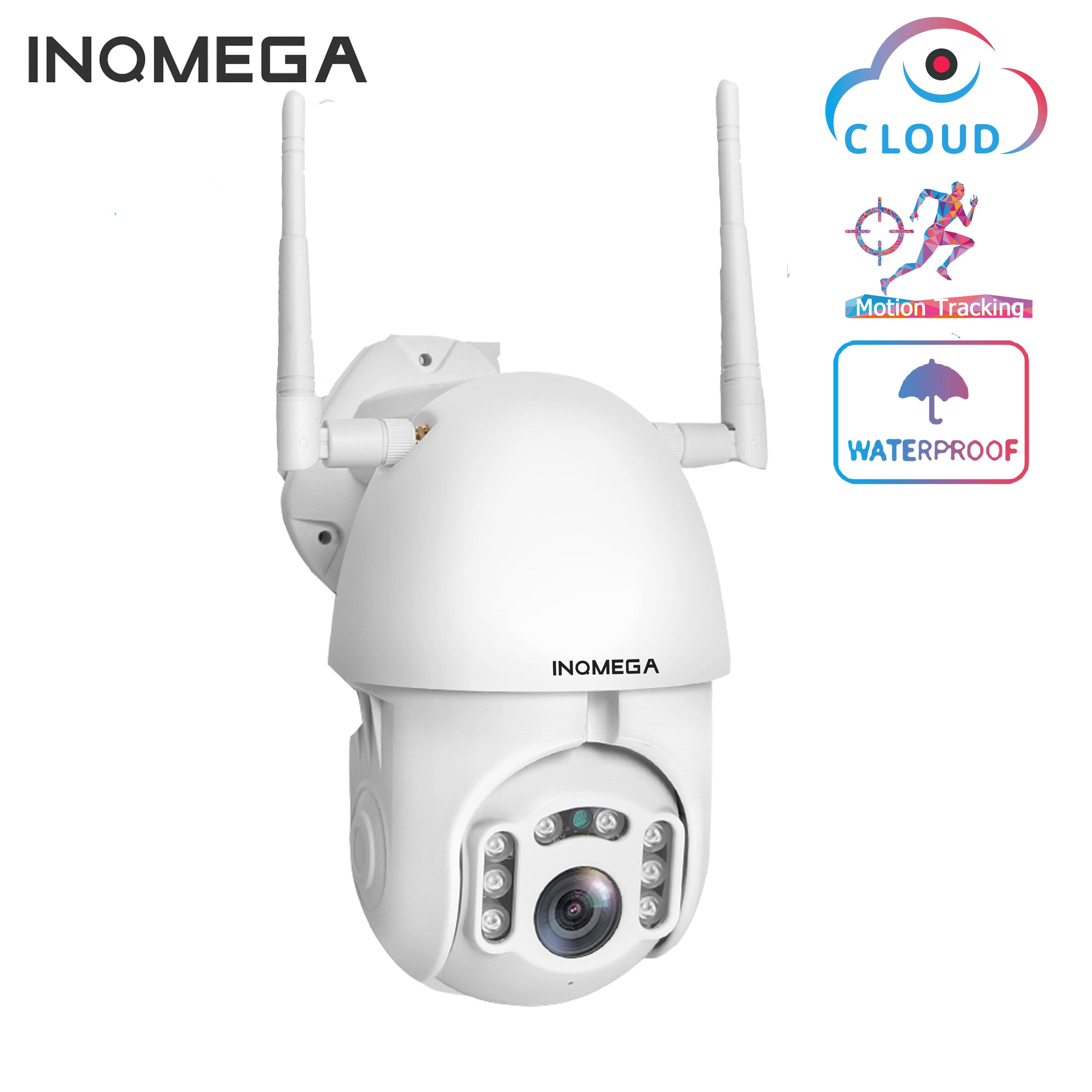 INQMEGA-caméra Wifi 1080P   Caméra sans fil IP Auto trackingz, dôme de vitesse CCTV, caméra IR Onvif, Surveillance de sécurité extérieure H.264 IR 50
