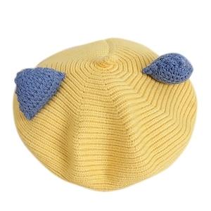 Antumn Winter Children  Cartoon Three-Dimensional Ear Hat Korean Version Cute Boys And Girls Beret Fashion Knitted Wool Hat HOT