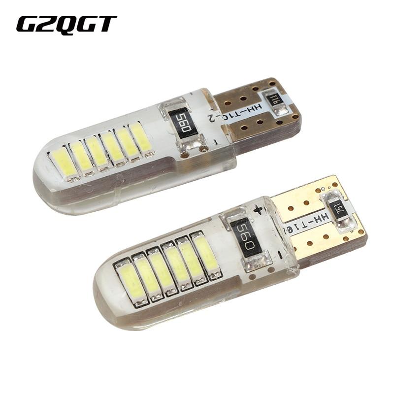 10 шт. W5W 194 T10 Canbus 4014 12 SMD без ошибок силикагель светодиодный чип клиновидная Лампа DC 12V светильник номерного знака светильник для чтения