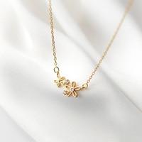 Новинка, изысканное ожерелье из стерлингового серебра с цветком из блестящего циркония, подвеска для девушки, свадебный подарок, Изящные Юв...