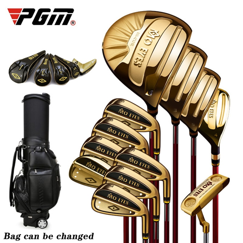 PGM Mo Eyes 12 Pieces/Set of Complete Titanium Golf Clubs (with Bag) Mens Womens Super Rebound Golf High-end Professional Set
