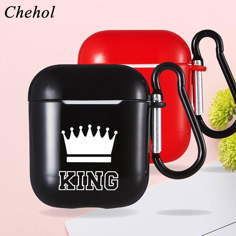 Queen King estuche protector para auriculares para Apple Airpods Pro 1 2 auriculares inalámbricos Bluetooth fundas de silicona blanda cubiertas para auriculares