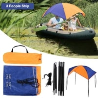 boat tent 2 3 persons inflatable kayak folding awning fishing sunshade waterproof and suncreen outdoor water sport accessories