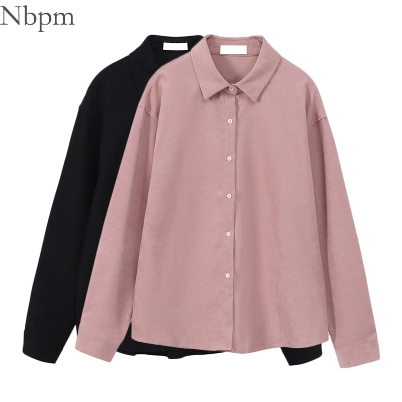 Nbpm Solid Basic Blouses Spring 2021 Women's Clothing Top Female Elegant Long Sleeve Shirt Elegant Blouses Fashion Prairie Chic