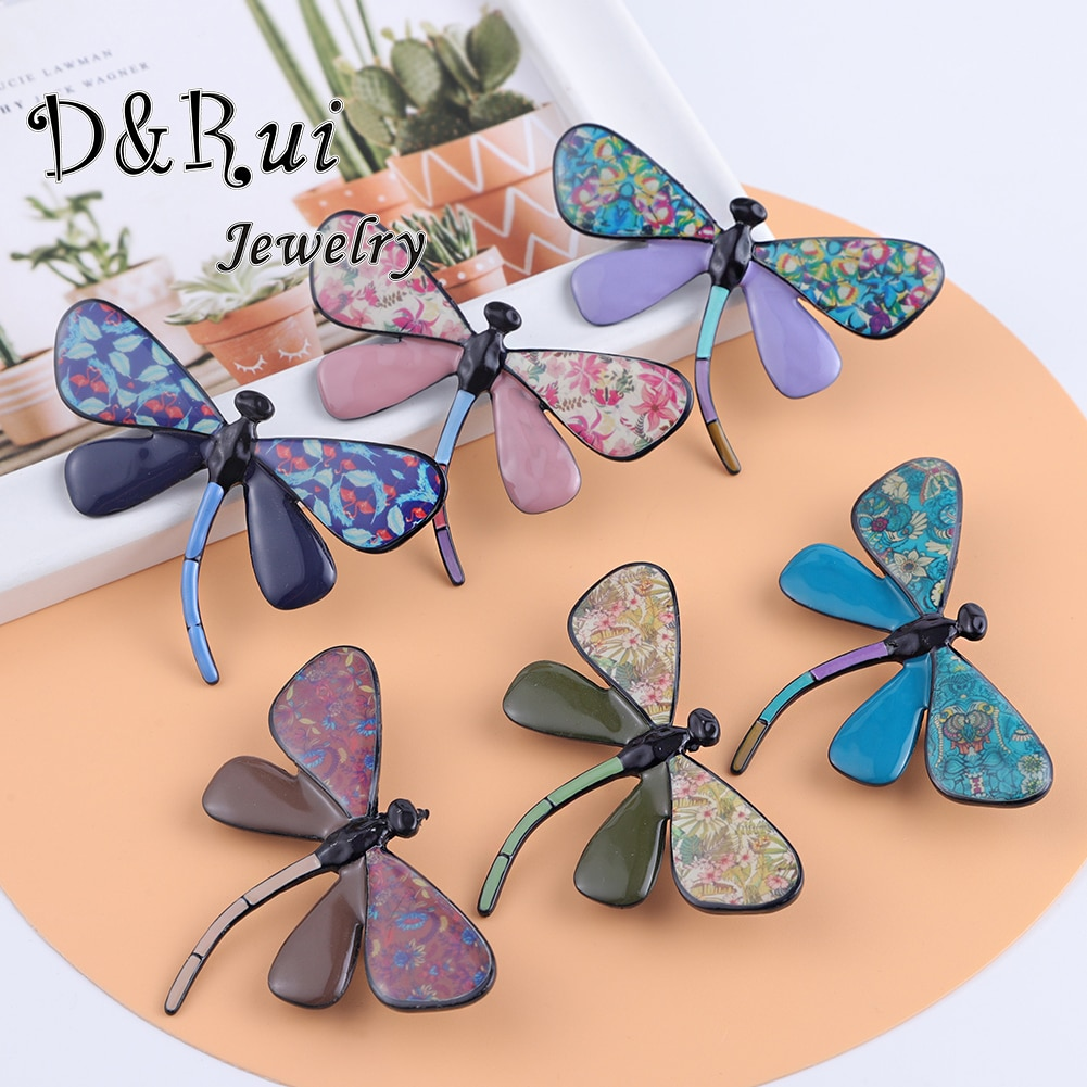 Enamel Dragonfly Brooches Pins for Clothes Accessories Brooch Animal Pin Fashion Jewelry Brooch Metal Female Brooch for Women cindy xiang blue shark brooch women and men brooch pin unisex enamel brooches vivid animal jewelry badages fashion accessories