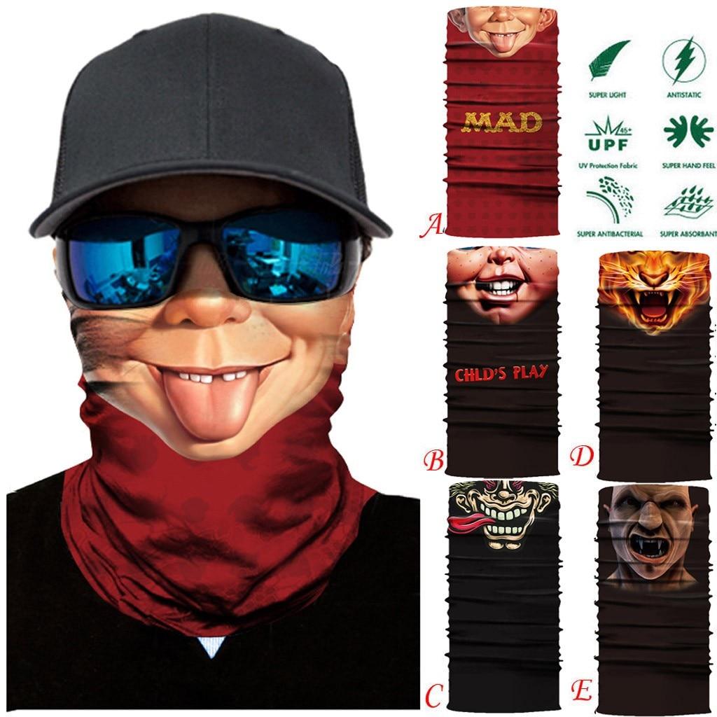 30 # máscara protectora de seguridad función completa esquí motocicleta cuello tubo calentador ciclismo bufanda de motociclista máscara de viento Mascarilla