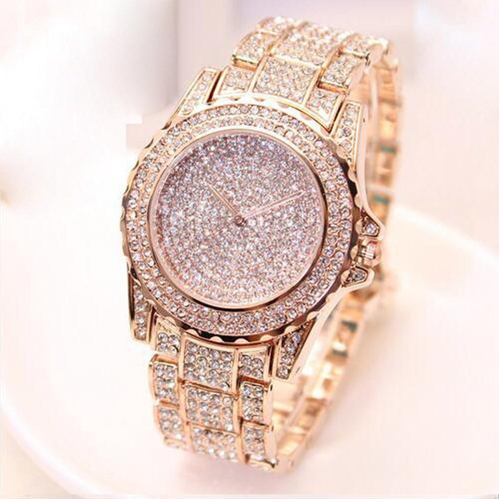 Relojes de moda analógicos de cuarzo con diseño de cielo estrellado y diamantes de lujo para hombre y mujer, 2019, reloj masculino, reloj para hombre erkek kol saati Q