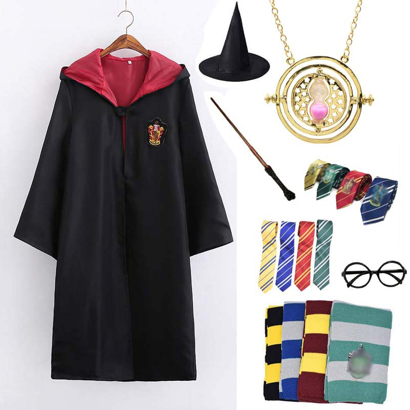 Маскарадный костюм ожерелье Поттер Haloween костюмы Гермиона школьная форма халат шарф