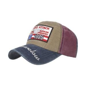 Washed Baseball Cap Man Patchwork Snapback Hat Streetwear HipHop Sport Caps Casual Sun Visor Trucker Hat Retro Bone Dropshipping