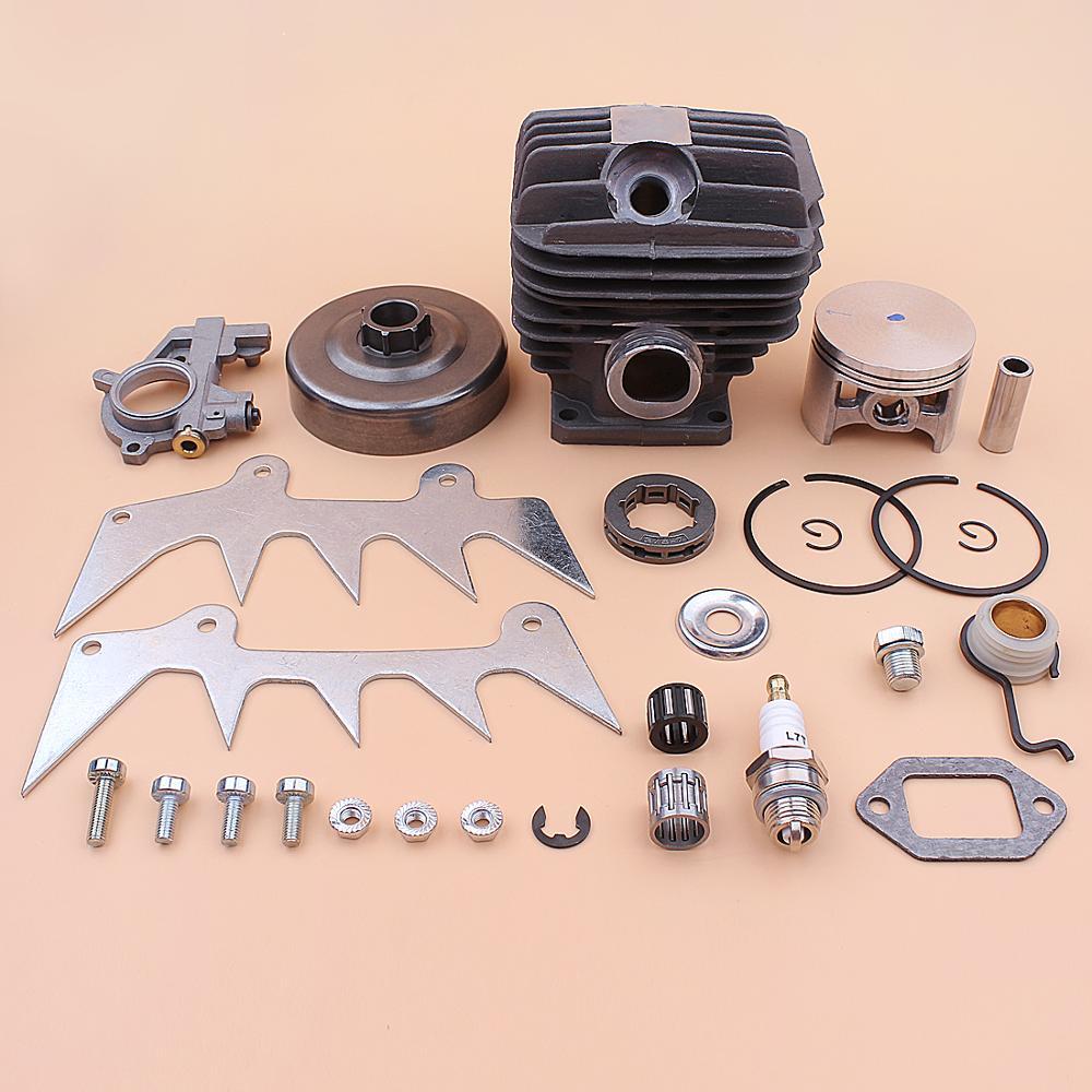 Kit de pistón de cilindro de 54mm para Stihl MS460 046 piñón de tambor de embrague Rim tornillo sin fin de bomba de aceite engranaje de desmontaje perro parachoques 1128 020 1221