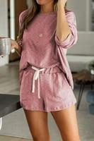 new summer cotton women pyjamas sleepwear nightwear long sleeve homewear plus size short pants night suit pajamas set