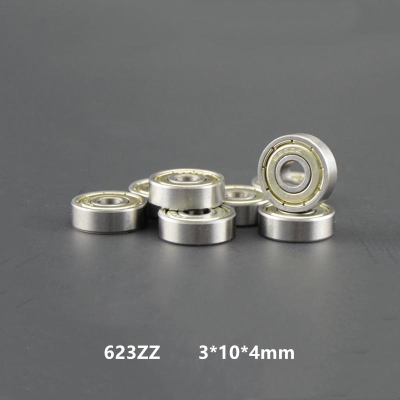 100/200 قطعة 623ZZ تحمل 623-ZZ 3x10x4 مصغرة الأخدود العميق 623 2Z ZZ ل 3d طابعة 623Z