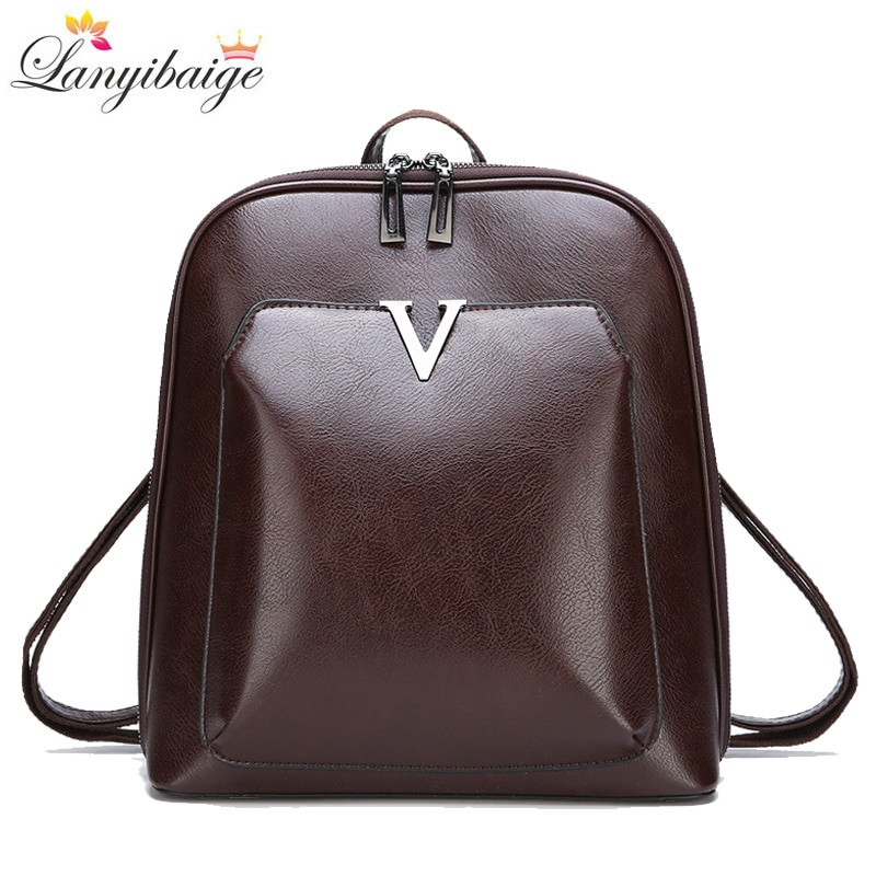 2021 New Women Vintage Backpack Brand Luxurious Leather Women's Shoulder Bag Large Capacity School Bag For Girl Leisure Backpac