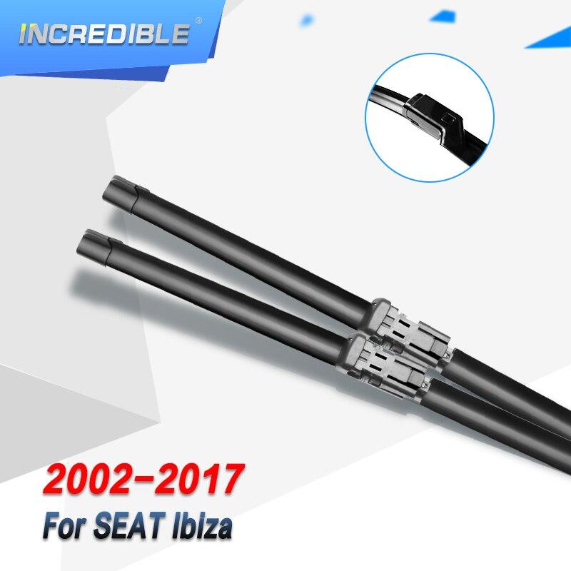 """Lâminas de limpador incríveis para seat ibiza hatchback/sc coupe/st estate 24 """"& 16"""" modelo de montagem exata ano de 2002 a 2017"""