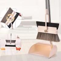 floor cleaner broom wiper set foldable practical broom sweeper soft hair dust broom multifunction dustpan household cleaner tool