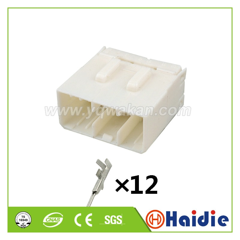 2sets tyco 12pin auto male connector plastic cable housing plug wire harness connector 368507-1