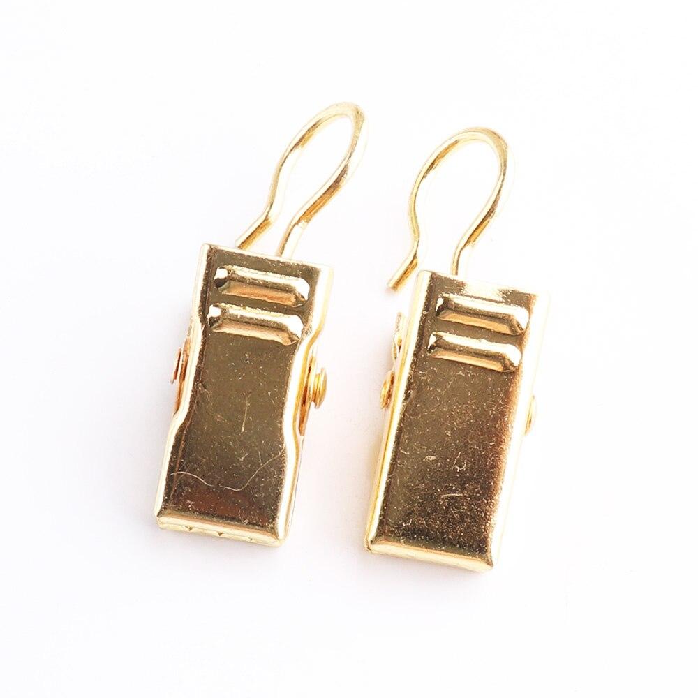 Clip de gancho de cortina de oro Ventana de ducha de Metal Clips de cortinas anillos postes de cortina, pistas y accesorios Clips decorativos DIY