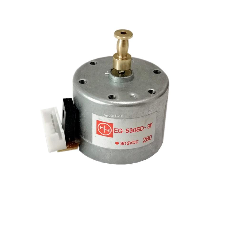 EG-530-SD-3F DC 5V 12V fonógrafo vinilo registro reproductor DC motor 33/45/78rpm velocidad + enchufe