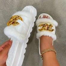 קיץ נעלי קטיפה אופנה בוהן פתוח מוצק צבע נשים של סנדלי מתכת שרשרת חיצוני מקרית נעלי נשים בתוספת גודל