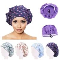 cotton hair care cap adjustable sweatband bandage chef working caps mens bouffant headwear nurse hat hair accessories wholesale