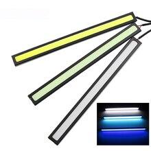 17cm universel feux de jour COB DRL LED lampe de voiture lumières externes Auto étanche voiture style Led DRL lampe accessoires