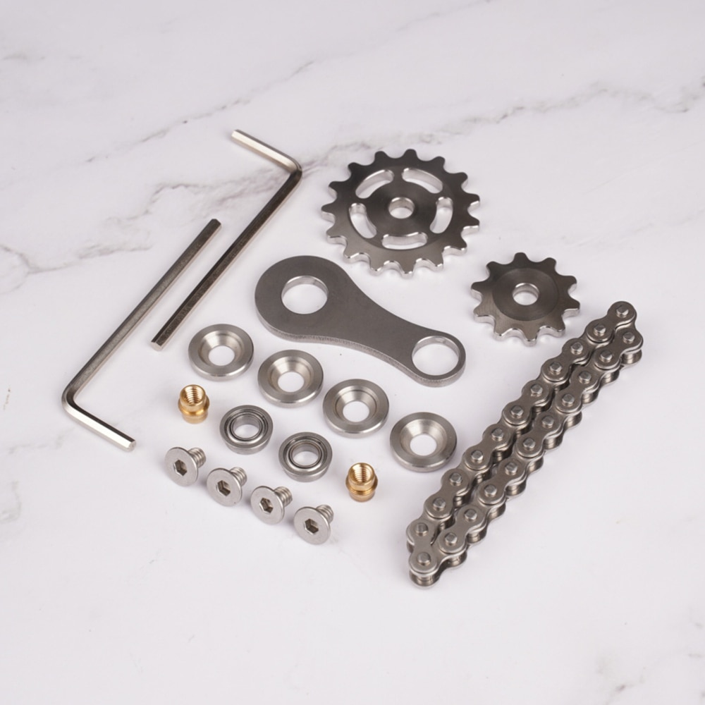 Stainless Steel Sprockets Flywheel Fingertip Gyro Sprockets Chains EDC Metal Toy Gear Gyro Drop Ship Sproket Roadbike Spinner enlarge