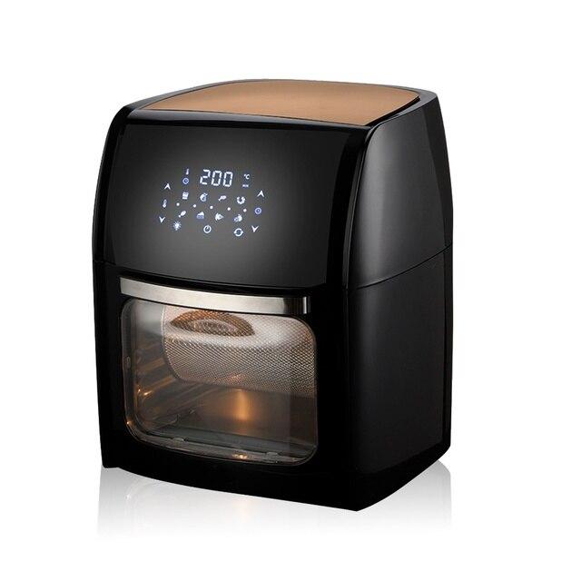 MIUI 10L/12.7QT Фритюрница воздуха, масло-фрит дома целая курица электрическая жаровня, MI-CYCLONE 360 ° выпечки технологии + светодиодный цифровой сенсорный экран духовки, 5 в 1 большой емкости фрукты и овощи сушилки|Бытовая техника|| | АлиЭкспресс
