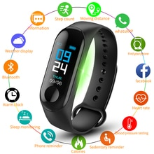 M3 Plus Smart Bracelet Heart Rate Blood Pressure Health Waterproof Smart Watch M3 Pro Bluetooth Watc